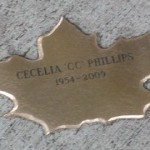"Bronze Leaf of Remembrance - Cecelia ""CC"" Phillips"