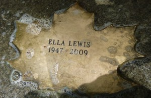 Leaf of Remembrance for Ella Lewis