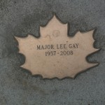 Leaf of Remembrance for Major Lee Gay 1957-2008