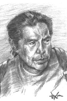 Pencil portrait of Earle Thompson by Jeremy Olson