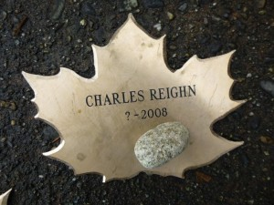 Charles Reighn Stone and Leaf from Dedication