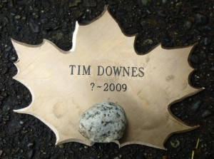 Tim Downes Stone and Leaf from Dedication