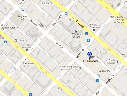 Map location of Angeline's