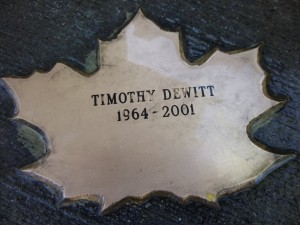 Leaf of Remembrance for Timothy Dewitt.