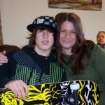 Brandi & her son Cameron, with his skateboard