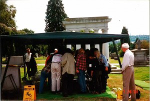 Gathering at the graveside