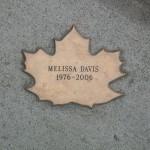 Leaf of Remembrance for Melissa Davis 1976-2006