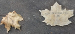 Leaf of Remembrance for Rosetta Richardson