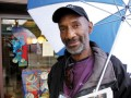 TJ Shorter on his vendor turf, with umbrella