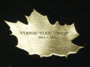 Leaf of Remembrance for Vern Lindsay